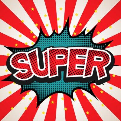 Poster Super-Sprechblase Hintergrund