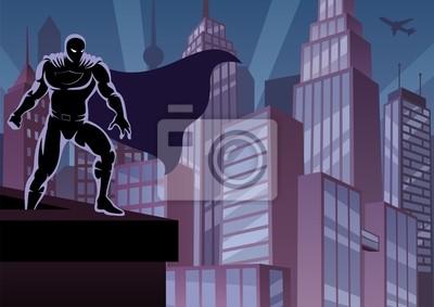 Superheld auf Dach