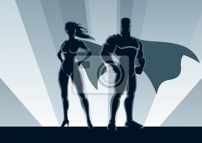 Superhero Paar