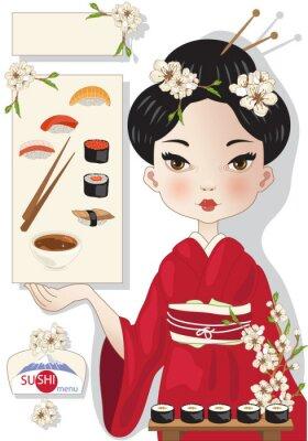 Poster Sushi-Menü