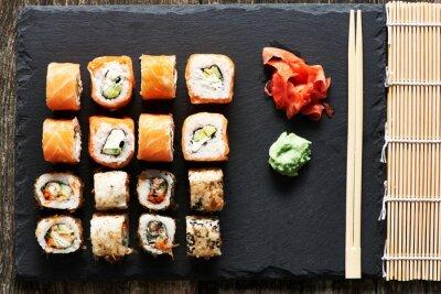 Poster Sushi Rollen