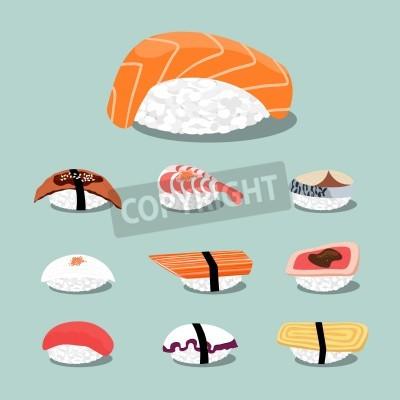 Poster Sushi-Set Icon-