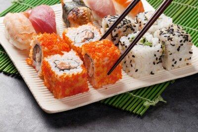 Poster Sushi und Maki-Set
