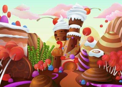 Poster Süße Vektor-Hintergrund