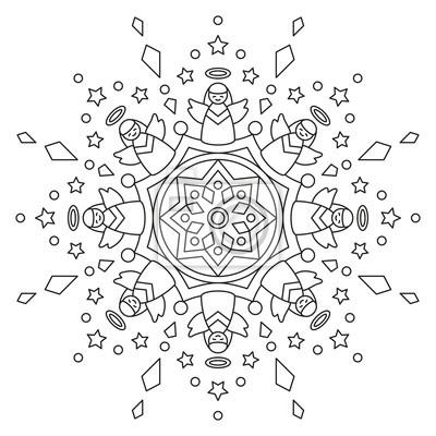 weihnachts mandala zum ausmalen