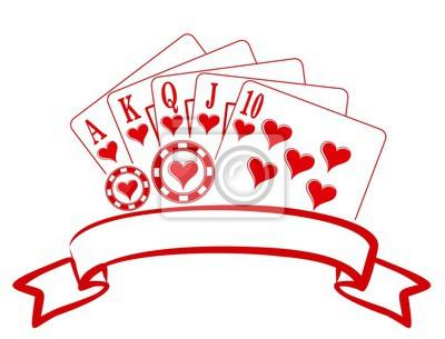 Symbol Des Kasinos Wandposter Poster Brettspiel Spielkarte