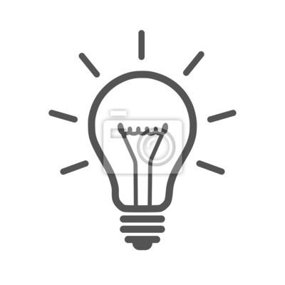 Symbol glühbirne wandposter • poster Glühlampe, Genie, Speichern ...