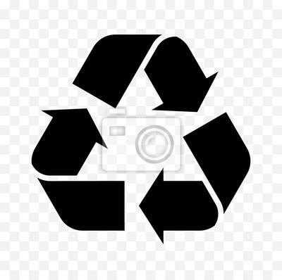 Poster Symbol Symbol recyceln