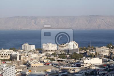 Poster tagsüber Blick auf die Stadt. Luftbild-Panorama.