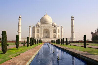 Poster Taj Mahal Mausoleum, Agra, Indien