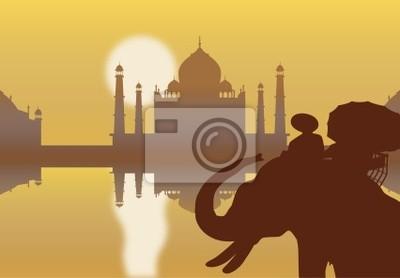 Taj Mahal vektortapete
