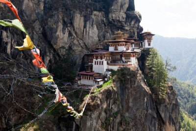 Poster Takts Goemba, Tigernest-Kloster in Bhutan