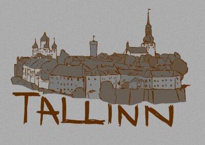 Tallinn capital city vintage