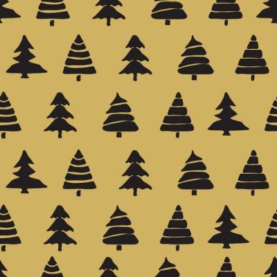 Poster Tannenbaum nahtlose Muster