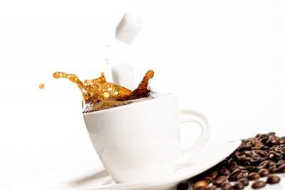 Poster Tasse Kaffee spritzen