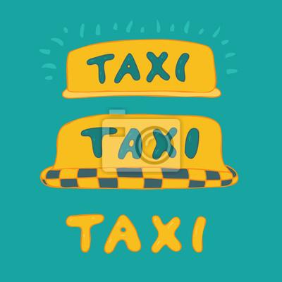Taxi cab sign, cause a car, vector illustration