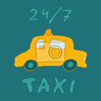 Taxi-Zeichen, verursachen ein Auto, Vektor-Illustration