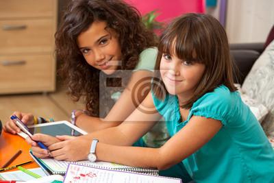 Teenager Hausaufgaben zu Hause.