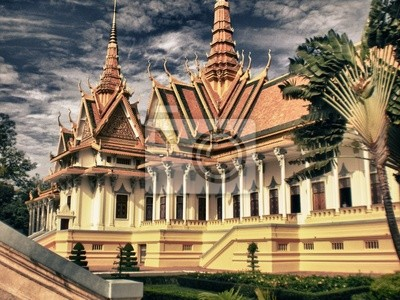 Tempel in der Nähe von Phnom Penh, Kambodscha