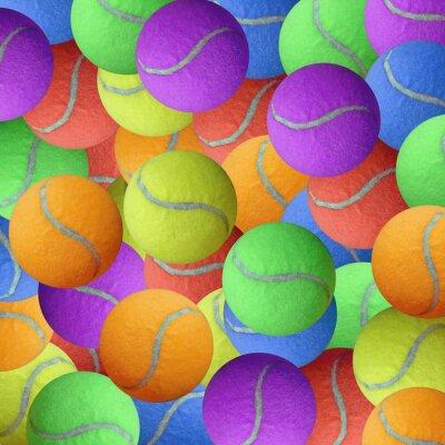 Poster tennis ball  as sport background