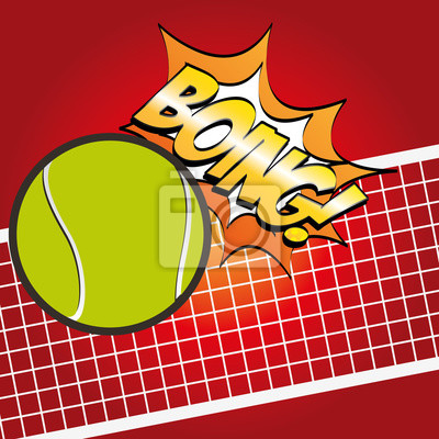 Poster Tennis-Sportentwurf