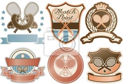 Tennis Vektor Abzeichen