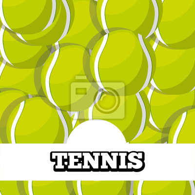Poster Tennisbälle Sport Hintergrund Design Vektor-Illustration