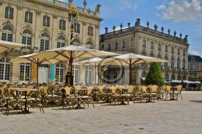 Terrasse Place Stanislas Nancy à en Lorraine HDR