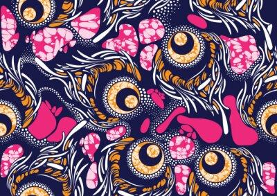 Poster Textil Mode afrikanischen Druck Stoff Super Wachs