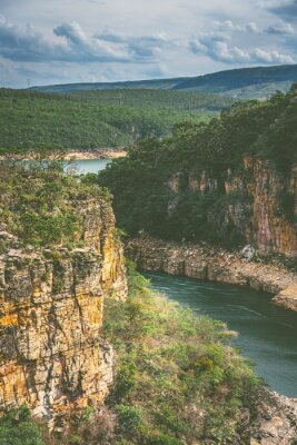 The amazing canyons of Capitolio, near by Furnas in Minas Gerais state in Brazil