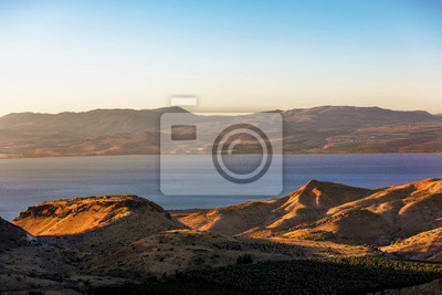 The Galileia sea seen a later afternoon light in Israel