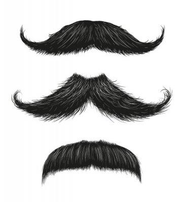 Poster Three Mustache Set