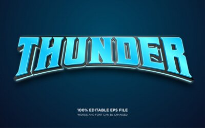Poster Thunder editable text style effect