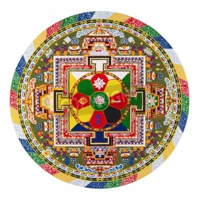 Poster Tibetanische Mandala