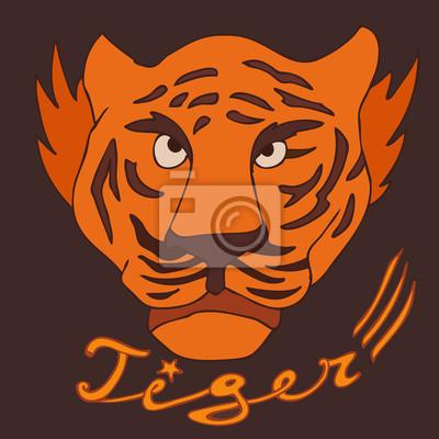 Tiger Vektor-Illustration, Hand gezeichnet