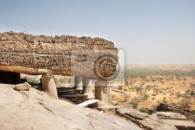 Toguna in einem Dogon Dorf, Mali, Afrika.
