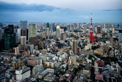 Poster Tokio Blick auf die Stadt