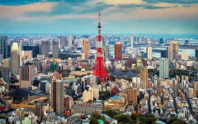 Poster Tokyo Blick auf die Stadt am Horizont sichtbar