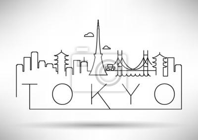 Tokyo City Line Silhouette typografische Gestaltung