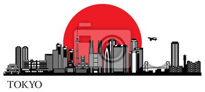Tokyo Stadtsilhouette