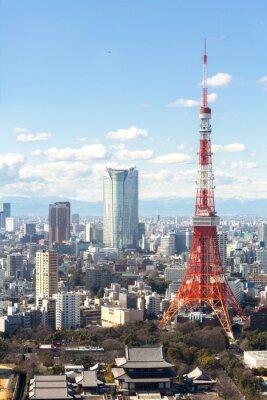 Poster Tokyo Tower Stadtbild