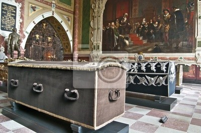 Tombeau royal dans la Cathédrale de Roskilde au Danemark