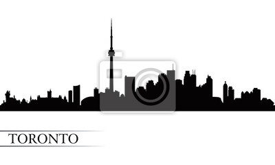 Toronto Skyline der Stadt Silhouette Hintergrund