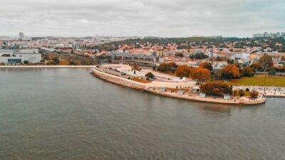 Tourist Destinations. Belem Tower on Tagus River in Lisbon