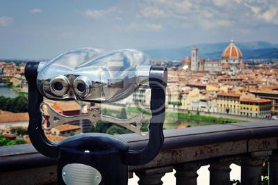 Touristische Teleskop mit Dom, Florenz