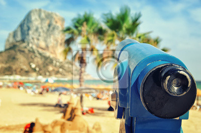 Touristische Teleskop, Strand der Costa Blanca, Spanien
