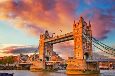 Tower bridge at sunset, London