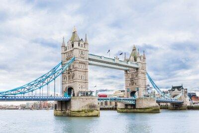 Poster Tower Bridge in London, Vereinigtes Königreich