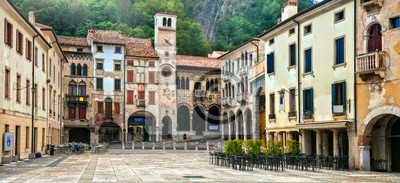 Traditional medieval villages (towns) of northern Italy - Vittorio Veneto. Veneto province