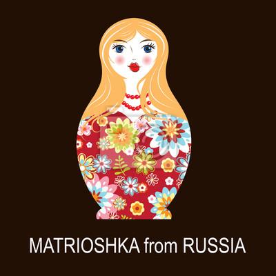Poster Traditional Russian matryoshka matrioshka doll
